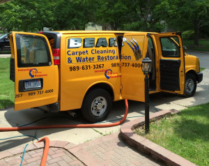 bear carpet cleaning truck photo